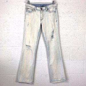 A/X Armani Exchange Size 6 R Light Wash Distressed